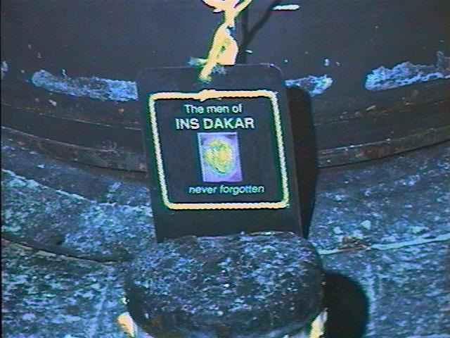 Plaque on the bow of the DAKAR