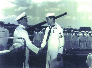 Buzz Lee with ADM Nimitz