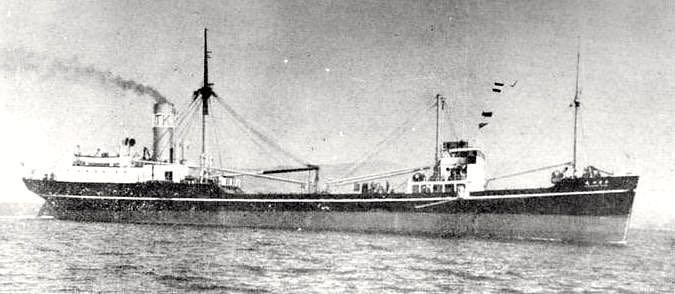 Kisogawa Maru, sistership of Amakasu Maru No. 1, pre war.